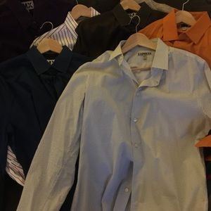 Express Fitted Dress Shirts Lot of 11** Sz Medium